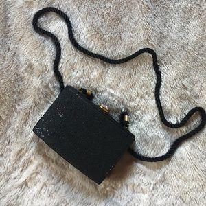 Glam Evan Picone Black Sparkly Purse | Small